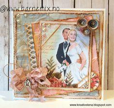 Barnemix - Vintage bryllupskort