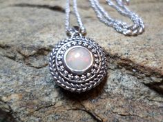 Ethiopian Opal Necklace, Welo Opal Necklace, Red Opal Necklace, Fine Jewelry, Sterling Silver Necklace, October Birthstone Necklace by CaravanOfBeads on Etsy https://www.etsy.com/listing/179208952/ethiopian-opal-necklace-welo-opal