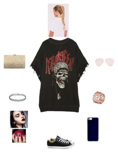 """""""K B M C D"""" by queen-kaitlyn ❤ liked on Polyvore featuring R13, Converse, Neiman Marcus, Tartesia and Casetify"""