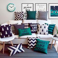 66 Ideas Living Room Red Pillows Pottery Barn For 2019 Bedroom Cushions, Living Room Decor Pillows, Floor Cushions, Sofa Pillows, Diy Room Decor, Sofa Throw, Wall Decor, Throw Pillows, Home Decor
