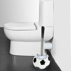 Apresentamos-lhe a nossa fantástica escova sanitária bola de futebol da Koolbuy! Esta escova sanitária original vai dar à sua casa de banho um toque de diversão. Trata-se de uma escova sanitária de plástico com uma base em cerâmica que parece uma bola de