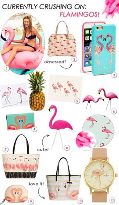 Currently Crushing On: Pink Flamingos! www.theperfectpalette.com - Flamingo Favorites!