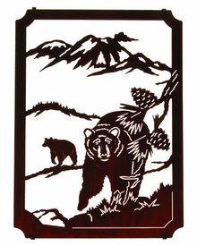 "22"" Wilderness Bears (Framed) Metal Wall Art by Neil Rose"