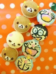 Doraemon & Rilakkuma Ball Sponge cake