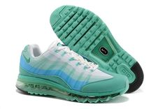 brand new dd47d 41a66 2014 New Nike Air Max 95 360 Mens Shoes Wire Drawing Green White Nike Air  Max