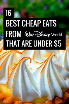 Best Cheap Eats at Disney World