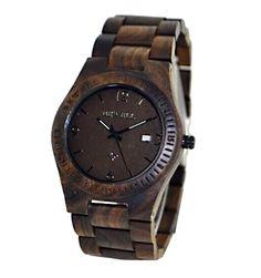 Cool handmade ebony watch from Treklokker.no