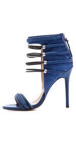 L.A.M.B. Katelyn Suede Sandals