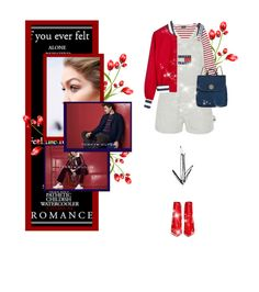"""""""Tommy girl."""" by flamingfashion ❤ liked on Polyvore featuring Saint James, Tommy Hilfiger and Gianvito Rossi"""
