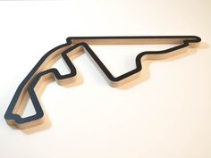 Yas Marina Abu Dhabi Wooden Formula One GP Race Track Wall Art Sculpture Low Aerial View in a Carbon Finish