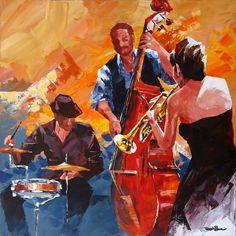 band painting | Jazz Band Art Jazz band 17