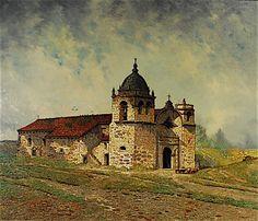 """San Carlos Borromeo de Carmelo"" by Edwin Deakin. On Display at the Santa Barbara Mission Archive Library. www.fineartconservationlab.com"