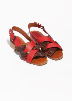 & Other Stories | Low Heel Leather Sandals