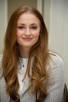 Sophie Turner - actress - born 02/21/1996   Northampton, Northhamptonshire, England  Known for Game of Thrones