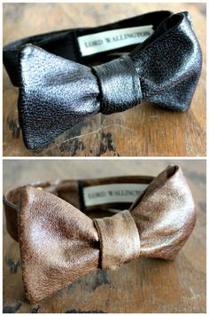Leather bow ties. I like them more than I thought I would.