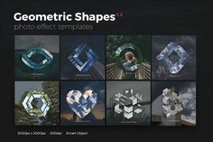 Geometric Shapes Photo Templates v2 by micromove