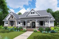 Plan Modern Farmhouse with Side-load Garage and Optional Bonus Room Filling the demand for all the most popular features, this modern Farmhouse house plan boasts an op Farmhouse Plans, Modern Farmhouse, Farmhouse Style, Farmhouse Decor, Farmhouse Design, New House Plans, House Floor Plans, 2200 Sq Ft House Plans, Modular Floor Plans