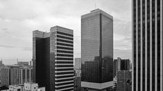 'Up, Up: Stories of Johannesburg's Highrises' pairs original plans and archival photographs with modern-day photos of towers in the inner city. Johannesburg City, Skyscrapers, Photographs, Photos, Cityscapes, Towers, Multi Story Building, Pairs, Landscape