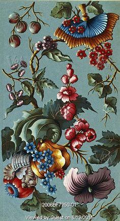 Silk design. France, 1739