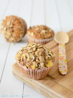 ¡Qué cosa tan dulce!: Muffins de harina de espelta con frambuesas y muesli