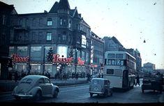 Die Schlossstrasse Richtung Rathaus Steglitz 1955