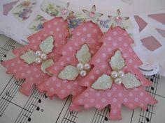 pink tree tags