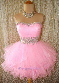 Custom Sweetheart Lace Homecoming Dress, Pink Short Homecoming Dress, Party Dress, Cocktail Dress, Bridesmaid Dress, Ball Gown Dress