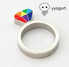 Rainbow Diamond Ring
