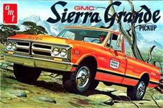 1971 GMC Sierra Grande Pickup (4' n 1) Stock, Custom, Drag or Baja (1/25) (fs)