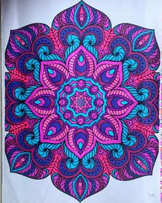 Mandalas colored with gel pens by Judy Soto | My coloring pages ...