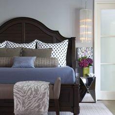 Blue & gray bedroom