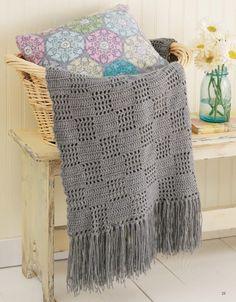Filet Afghans - Crochet Pattern