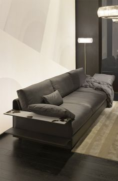 Hampton Sofa by Toan Nguyen for Fendi Casa, Salone del Mobile Milan 2014. I want this is the dreamy avio leather featured in Elle decor dec 14
