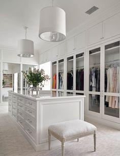 Bedroom Closet Design, Master Bedroom Closet, Closet Designs, Home Decor Bedroom, Dressing Room Closet, Dressing Room Design, White Closet, Wardrobe Room, Luxury Closet