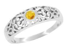 Edwardian Filigree Ruby Ring in 14 Karat White Gold Silver Ruby Ring, Pink Sapphire Ring, Blue Topaz Ring, Platinum Ring, Platinum Wedding, White Sapphire, Aquamarine Birthstone Ring, Citrine Ring, July Birthstone