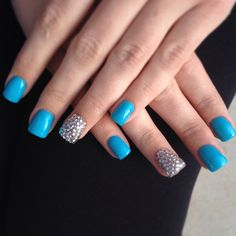 Gel nails with rhinestones  Haute Nails - Murrieta, CA  #gelnails #nails #nailart #rhinstones