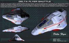 Delta Flyer Shuttle ortho [New] by unusualsuspex on DeviantArt Spaceship Art, Spaceship Design, Star Trek Meme, Star Wars, Aliens, Vaisseau Star Trek, Starfleet Ships, Pintura Exterior, Space Fighter