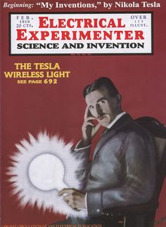 Electrical Experimenter magazine with Tesla cover.