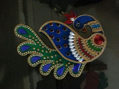 Buy beautiful  handmade #peacock #kankavati from #craftshopsindia