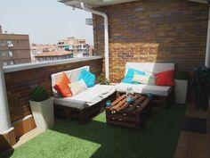 Sofas de terraza con pallets