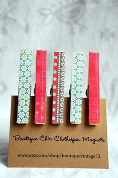 Use old swatches to make Magnets. *Washi tape would work too.