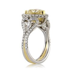 4.60ct Fancy Light Yellow Heart Shaped Diamond by MarkBroumand