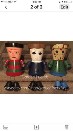 freddy krueger halloween decoration jason voorhees pot person michael myers flower pot people - Michael Myers Halloween Decorations