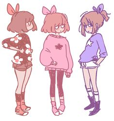 fantastic #art - reminds me of some girly/Lolita frisk fanart I saw somewhere. They are just too cute!
