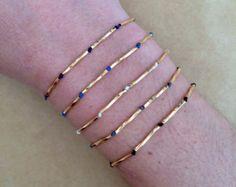 Tiny Dainty Gold Plated Gilded Twisted Straight Tube Friendship Elegant Macrame Bracelet - Adjustable Bracelet, Thin Bracelet, Slim Bracelet