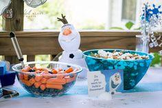 Frozen Birthday party for boy. Do you wanna build a snowman