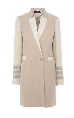 Masculine double breasted coat - Karen Millen