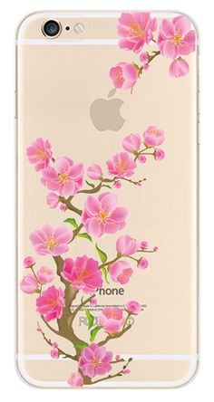"""iPhone 6 Case,Slim Fit TPU Back Case For iPhone 6 4.7"""",UZZO Cute Girl Fairy Flower Plum blossom Hot Sexy Lips Animal Giraffe Print Ultra Thin TPU Protective Case Bumper,Scratch-Resistant Transparent Skin Slim Fit Clear Soft TPU Gel Rubber Back Cover with Cute Print For iPhone 6 4.7 inches With 1Free Keyring"""