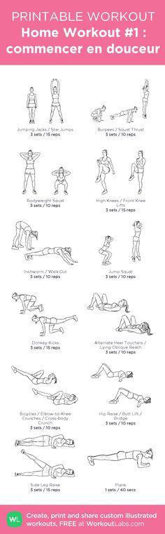 Home Workout #1 : commencer en douceur  By Demoizelle Vivi
