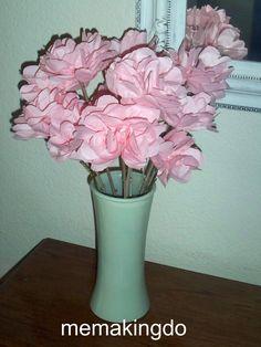 Me Making Do: Long Stem Napkin Roses